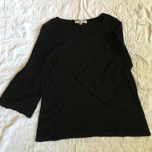 LOFT Black Lightweight Sweater Top Sz L